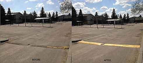 Image of repainted parking lot
