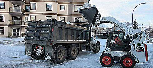 Snow haul away