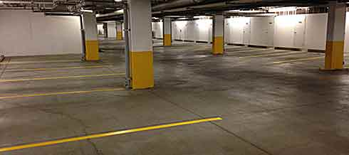 Image of parkade cleaned and painted