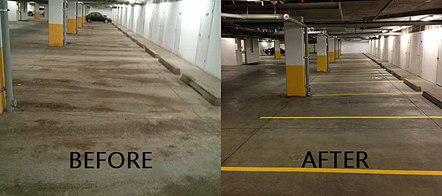 Parkade Cleaned and Painted